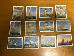 1938 John Player And Sons Racing Yachts - Lot Of 12 - Very Nice Condition