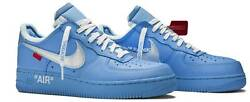 Nike Air Force 1 Low And03907 Off-white Mca University Blue Uk 6 Us 7 Eu 40