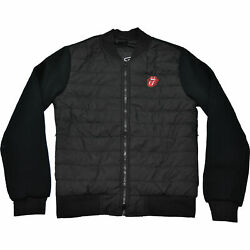 Menand039s Rolling Stones Classic Tongue Jacket Black