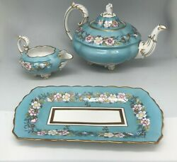 Royal Stafford Garland 3pc. Set Rare Find - -painted Made In England