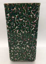 Vintage Unusual Royal Doulton Tall Square Vase With Leaves And Berry Decoration