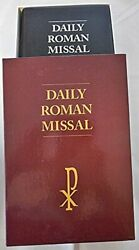 Daily Roman Missal - Large Print Black Leather Bound Excellent Condition