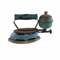Vintage Coleman Blue Instant-lite Gas Fired Double Point Iron Made In Usa