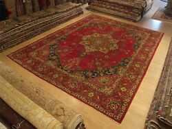 10 X 13 Vintage Handmade Hand Knotted High Quality Antique Azeri Wool Pile Rug