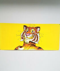 Vintage 1960and039s /70and039s Exxon Tiger Gasoline Petroliana Advertising Poster Sign Nos