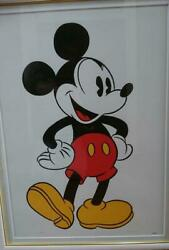 Sowa Reiser Issue Mickey Litograph Painting Disney Cell