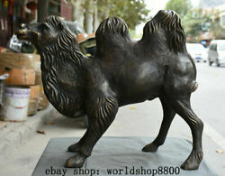 26 Chinese Bronze Camel Llama Ship Of The Desert Fengshui Animal Sculpture