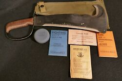 Ww2 Usmc Marine Corps Woodsmans Pal Lc-14-b Complete And Fine Exceptionally Rare