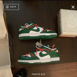 Size 7 - Nike Dunk Low X Off-white Pine Green 2019