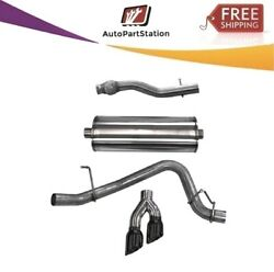 14748blk Corsa 304 Ss Cat-back Exhaust System Dual Side Exit For Chevy/gmc 15-20