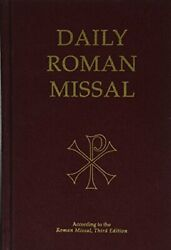 Daily Roman Missal, 7th Edition, Burgundy Hardcover Excellent Condition