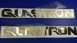 Glastron Boat Emblems 27 Gold + Free Fast Delivery Dhl Express - Stickers Set