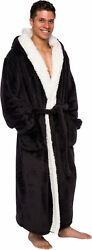 Ross Michaels - Menand039s Big And Tall Full Length Lined Luxury Hooded Bathrobe
