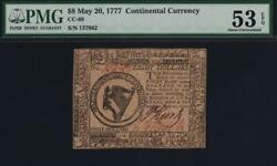 Cc-69 The United States Pmg Au53 Epq 8 May 20 1777 Continental Currency