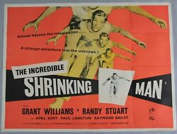 The Incredible Shrinking Man 1957 Sci Fi Original Uk Quad Poster 40 X 30 Inches.
