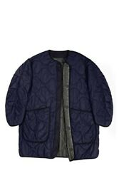 Marfa Stance The Signature Reversible Quilt Navy/olive Parka Coat Size Small