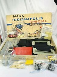Vintage Complete W/ Box And Cars Marx Indianapolis Classic Slot Car Track