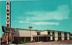 Vintage Postcard - Un-posted Airways Hotel At Buffalo Airport New York Ny 4986