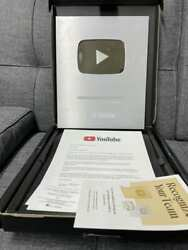 Authentic Custom Youtub Silver Play Button Award 100000 Subscribers Your Name
