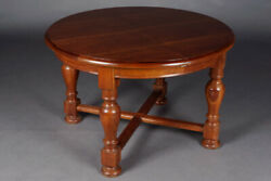 Gut Maintained Old Massive Table Pear Wood Extendable