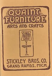 Arts And Crafts Quaint Stickley Brothers - Furniture Lamps Copper / Scarce Book