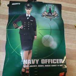 Navy Officer Ladies Fancy Dress Sailor Uniform Military Army Adults Costume