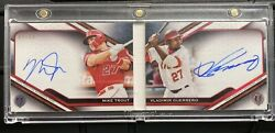 Mike Trout Vladimir Guerrero 2021 Topps Tribute Tandem Auto Red /10