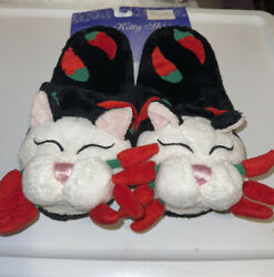 Amy Lacombe Whimsi Cat Chili 🌶 Pepper Slippers, Size 6/7, Vintage, Nwt, Vhtf