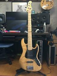 Moon Jb-5 Ash Electric Bass Natural With Soft Case Ships Safely From Japan