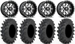 Fuel Nutz Black 14 Wheels 28 Outback Max Tires Yamaha Grizzly Rhino