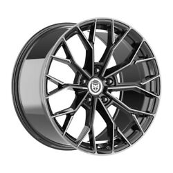 4 Hp3 22 Inch Black Tint Rims Fits Buick Rendezvous 2002 - 2007