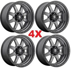 20 Fuel Trophy Anthracite Grey Gray Wheels Rims Fits Tacoma 4runner Trd