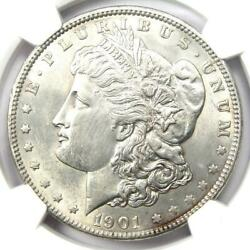 1901 Morgan Silver Dollar 1 Coin 1901-p - Ngc Au58 - Rare Date - Looks Ms Unc