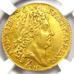 1710-z France Louis Xiv Louis Dand039or 1land039or Coin - Certified Ngc Au55 - Rare Coin