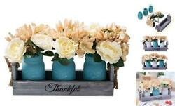 Mason Jars For Artificial Flowers – Decorate Your Home With Our Large Blue