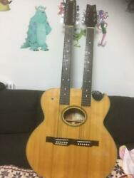Washburn Ea220 Double Neck Acoustic Electric Guitar W/h/c Ships Safely From Jp