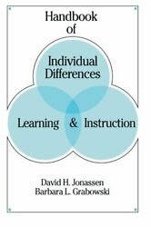 Handbook Of Individual Differences Learning And By David H. Jonassen And Barbara