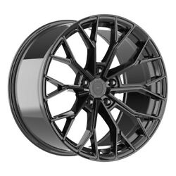 4 Hp3 22 Inch Staggered Gloss Black Rims Fits Lexus Lc 500 2018 - 2020