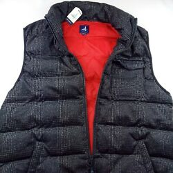 Johnnie-o Camo Performance Quilted Puffer Camper Vest Jacket Charcoal Gray 199