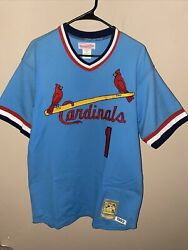 Ozzie Smith St Louis Cardinals Mitchell And Ness Jersey 100 Authentic