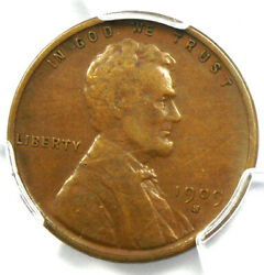 1909-s Vdb Lincoln Wheat Cent 1c Penny - Pcgs Vf Details - Rare Key Date Coin
