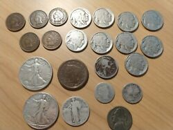 Lot Of Us Coins 1850's - 1940's Liberty Indian Head Buffalo Varying Condition