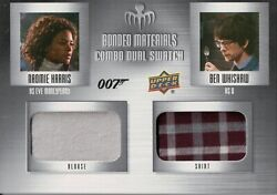 James Bond Villains And Henchman Bonded Materials Dual Costume Relic Card Bm-52