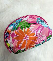 LILLY PULITZER for Target Nosey Posie Print Travel Clutch Cosmetic Bag Round Top $9.25