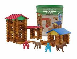 Lincoln Logs Centennial Edition Tin Exclusive-150+ Pieces-real Wood-ages 3+-b...