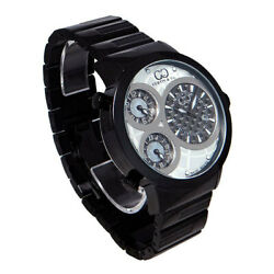 Curtis And Co. Curtis Big Time World 3 Time Zone Suw50w-b World Watch Tk6348