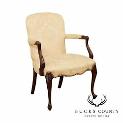 Hickory Chair Queen Anne Style Mahogany Armchair
