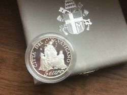 Vatican 5 Euro 2003 Year Of The Rosary Ioannes Pavlvs Ii Silver