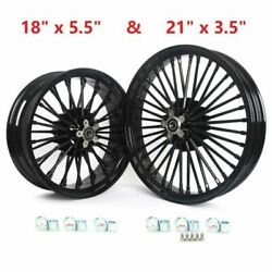 21x3.5 / 18x5.5 36 Fat Spoke Wheels Rims For Harley Softail Heritage Classic