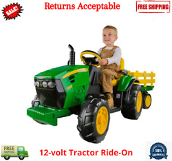 Toy Ride On Tractor John Deere Ground Force 12 Volt Outdoor Play For Kids Boys